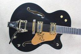 2019 guitarras coreanas Frete grátis black Ebony fingerboard Falcon 6120 Corpo Semi Oco Tuners Coreano Jazz Guitarra Elétrica Com desconto guitarras coreanas