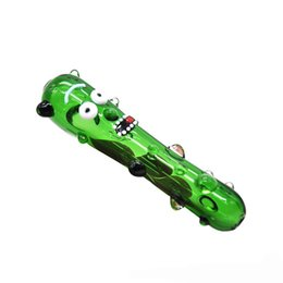 Drôle Pickle Fumer Tuyau En Verre Concombre Heady Tobacco Pipes Main Pyrex Coloré Cuillère Accessoires Fumer Pour Mignon Cadeau De Noël 608 ? partir de fabricateur