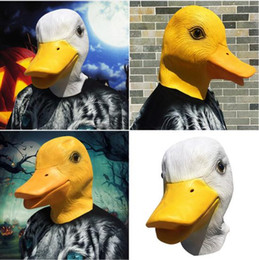 Divertente giallo bianco anatra maschera di halloween carino cappelli decorazioni di halloween palla maschere costume maschera del partito del vestito operato da