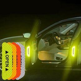 accessori kia k5 Sconti 4 Pz Auto Riflettente Nastro Segnale di Avvertimento adesivo Accessori Esterno Per KIA RIO K2 K3 K5 Ceed Sportage Sorento anima optima