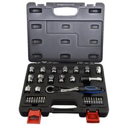 utensile a chiavetta Sconti 32pcs anello chiave a cricchetto chiave a cricchetto set materiale S2 Socket metrico 8-19mm pollici strumenti di riparazione auto CNIM caldo