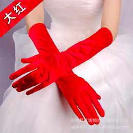 Canada Dame femme danse performance long rouge gants mode soirée soirée gant gratuit supplier red dance gloves Offre