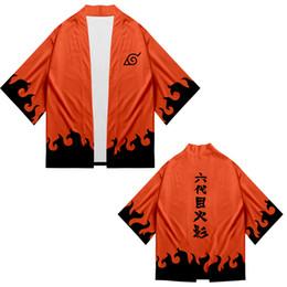 Japão anime roupas on-line-Últimas impressões de anime popular naruto 3d quimono top men primavera outono harajuku estilo japonês personalidade naruto roupas xxs-4xl