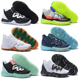 guns shoes Promo Codes - ROKIT 5 V Friends Area 72 Ray Gun UFO Duke Oreo BHM Kyrie Basketball Shoes Mens Concepts 5s PE Little Mountain CNY Ikhet Zoom Turbo Sneakers