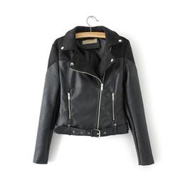 Короткий рукав кожа мотоцикл жакет онлайн-Evasu Лу Весна байкер куртка 2019 новая мода с длинным рукавом короткий мотоцикл куртки женщины замши пальто женская кожаная куртка EV322