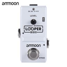 Gitarrenschleife online-ammoon AP-09 Nano-Serie Loop-E-Gitarren-Effekt-Pedal-Looper True Bypass unbegrenzte Overdubs 10 Minuten Aufnahme