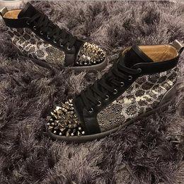 sapatos leopardo sapatos homens Desconto Designer de design exclusivo leopard sapatilhas de fundo vermelho sapatos homens, mulheres pik pik picos sem limite fasmous casual walking top quality dress casamento