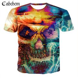 08d374d4 Skull T shirt Tau T-shirt Punk Rock Clothing Hip-Hop Tee Anime Clothes Sexy Men  Clothing Print Fashion 2019 New O-Neck