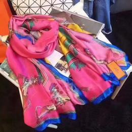 Cavalo de cabeça on-line-H lenços de seda da marca para a mulher com tags estilos cavalo humano grifes da marca designer de cor Doce lenços de luxo
