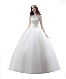 Vestido de boda de seda bordado online-Vestido de lujo de las mujeres de cola roja boda novia princesa Sexy hermosa bordado de seda de oro de la correa delgada de encaje vestidos de fiesta