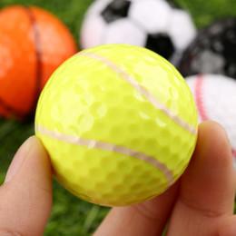2020 neuheit golfbälle Mounchain 42.7mm Golf Trainer Bälle Hochfeste Neuheit Gummi Golf Balls Spiel günstig neuheit golfbälle