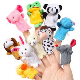 10pcs Cute Animal Marionetas de dedo para bebés, bebés, niños, historia, tiempo, espectáculos, escuelas, tiempo de juego desde fabricantes