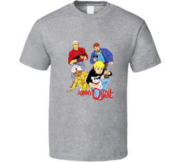 2019 livre de missão Jonny Quest Retro 80's Clássico Dos Desenhos Animados Tv Série T Shirt Tee Presente New From US Engraçado frete grátis Unisex desconto livre de missão