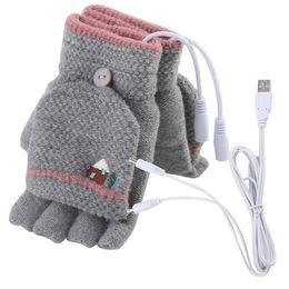 Canada Ordinateur portable femmes hommes USB mitaines chauffantes FullHalf Finger hiver chaude gants en tricot supplier heated warmer gloves Offre