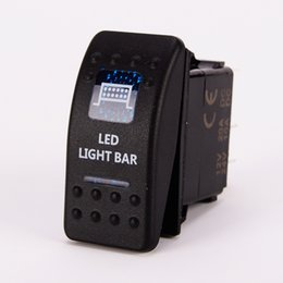SPOT LIGHT Rocker Switch LED Carling ARB Etched Car Marine 5 Pin ON-OFF SPST