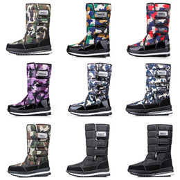 waterproof camo fabric Promo Codes - Fashion designer boots for women men Camo Half Boot Classic snow winter boots waterproof platform booties 36-46 Drop Shipping