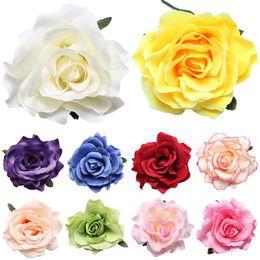 2019 flores flocadas Novo Flocking Pano Vermelho Flor Flor Grampo de Cabelo Hairpin DIY Cocar Acessórios Para o Cabelo Para O Casamento De Noiva desconto flores flocadas