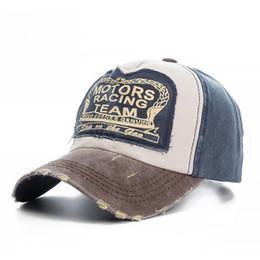 Высокое качество мыть хлопок повреждение бейсболка мотора Snapback Hat хип-хоп папа шляпы для мужчин, женщин шлифовальные многоцветный кости от Поставщики корейская военная фуражка