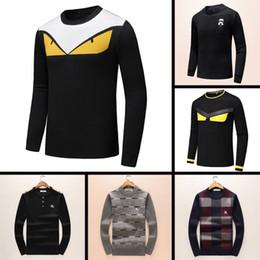 2019 Mais Recente Mais Recente Designer de Outono Inverno Mens Sweater clássico Moda Pullover Homens Marca Tripulação Pescoço Roupas de alta qualidade com 5 tamanho ce de