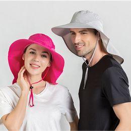 2019 cappello Donna Primavera e cappello di estate unisex di Sun impermeabile tesa larga traspirante L405A di pesca del Capo esterno da