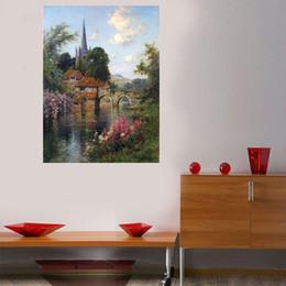 Canada peintures de peintures château de WEEN et pont peinture par numéros Mordern image peint à la main dessin sur mur abstrait bricolage Coloring By Numb ... Offre