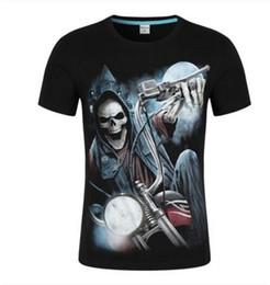 style t-shirt design hip hop Promotion T-shirt à manches courtes à manches courtes à manches courtes en coton 3D Design avec tête fantôme de rock T-shirt à manches courtes pour hommes, style sportif Hip Hop
