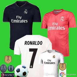 Équipe de football de madrid en Ligne-Maillot de foot 2019 Real Madrid RONALDO 2018 Maillot de foot 2019 2019 MBAPPE # 10 JR ISCO # 22 NEYMA # 10 RAMOS BENZEMA MODRIC BALE Uniform Team
