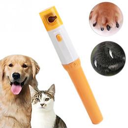 2019 arquivo de unhas do cão elétrico Pet Cortador de Unhas Pedi Pet Cães Gatos Pata Prego Aparador de Corte Elétrico de Moagem Ferramentas de Higiene WX9-1235