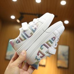 Acheter Dersigner Enfants Chaussures Casual Style Net Tissu Bébé Garçon Et Fille Sneaker Luxuy Marque Chaussures De Sport Pour Enfants Taille 22 35 De