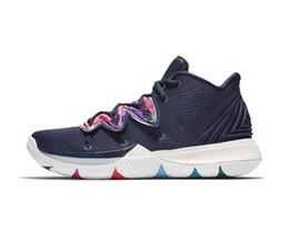2019 Nuevas zapatillas de baloncesto Kyrie 5 a la venta barata Irving 4 zapatillas deportivas para hombre Zapato Wolf Grey Team Red Zapatillas deportivas al aire libre Baloncesto 4 5 desde fabricantes