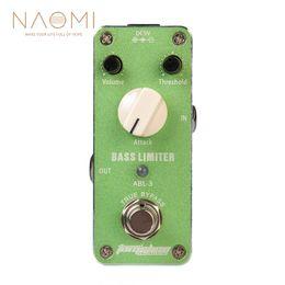 pédales d'effet pour basse Promotion NAOMI Aroma ABL-3 Pédale d'Effet Basse Limiteur de Guitare Basse Pédale d'Effet True Bypass Guitare Accessoires Nouveau