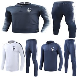 star lavender Coupons - 2 Star Thai 2018 France soccer Tracksuit PAYET POGBA Track suits jacket 2018 19 GRIEZMANN chandal training suits sports wear.