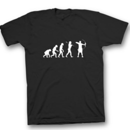 arbalète arc Promotion Evolution du tir à l'arc arbalète longbow T-shirt pour hommes tir à l'arc flèche noël blanc Funny livraison gratuite Unisexe Casual Tshirt top
