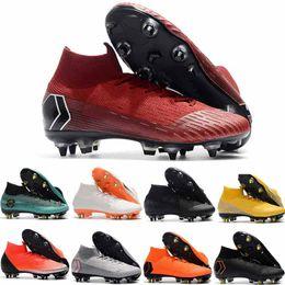 2019 zapatillas de fútbol Nueva llegada Botas de fútbol Venta al por mayor VI AC Elite CR7 SG AC Espigas de acero para interiores Zapatillas de fútbol Orden grande Dropshipping rebajas zapatillas de fútbol
