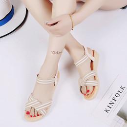 1e15bb055eb0c9 sandali semplici del tallone delle signore Sconti Scarpe basse da donna a  righe Bohemia Leisure Sandali