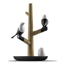 JESS Estilo Chino Lucky Bird LED Lámpara de Mesa de Noche Base de Madera Sensor de Movimiento Inteligente Luminaria Salón Dormitorio Luz del Escritorio desde fabricantes