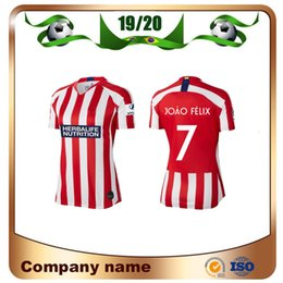 Jersey diego costa online-19/20 Frau Madrid # 7 JOAO FELIX Fußball Trikots 2019 Startseite M.LLORENTE KOKE SAUL DIEGO COSTA GODIN Damen Fußball Trikots