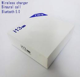 i13 tws беспроводные Bluetooth-наушники поддержка беспроводной зарядки bluetooth 5.0 наушники сенсорное управление SIRI беспроводная гарнитура с зарядным устройством от