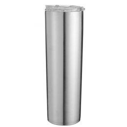 2019 agitador de proteínas botella deportes directo Acero inoxidable flaco vaso 20 oz 30 oz aislamiento por vacío recto Copa Cerveza Taza Vidrios con las tapas y pajas