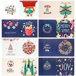 pintura do diamante Desconto Pintura 8pcs diamante Cartão do Natal Pintura Papai Noel Boneco de diamante bordado DIY Decoração de Natal Para Casa