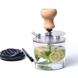 Accesorios de narguile de silicona online-Arab Hookah Set Acrílico Shisha Pipe con luz LED Sheesha Silicona Bowl Manguera Primavera Pinzas de carbón Chicha Narguile Accesorios