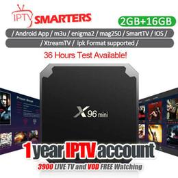 2019 mx amlogique X96 mini Android TV Box avec abonnement IPTV couvrant plus de 30 pays 4000 + en direct pour Smart TV M3U MAG Box USA Abonnement Iptv