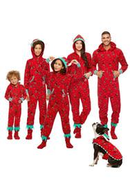 crianças parede luz lâmpada atacado Desconto Xmas Família Crianças Adulto Matching Natal Pijama Pjs Set com capuz Rena Imprimir Jumpsuit Moda roupa casual Presentes Roupa de Noite (Sem Sock