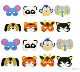 2019 schaum gesichtsmaske Marki 108pc 12 Asst Kinder Foam Tiergesichtsmasken Zoo Farm Party 1 Set (12 Arten Tier) Geburtstags-Party Supplies H47 günstig schaum gesichtsmaske