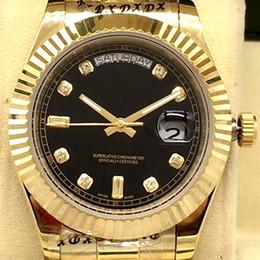 2019 bezel wholesale Diamant montre de luxe en gros montre DAY DAITE Double calendrier montres pour hommes 41MM Bracelet en lunette en acier inoxydable Montres bezel wholesale pas cher