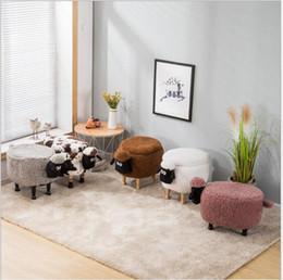 Armazenamento de fezes sapatos pouco ovelhas mudando sala de estar sofá pé cadeira pacote de pano de madeira moderna fezes nova chegada móveis de Fornecedores de brinquedo educacional de desmontagem