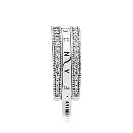 New Flipping Emblem Pure Silver Simples Encantador Coração S925 Sterling Silver Ring Fit pandora jóias com saco original de Fornecedores de anéis de pandora