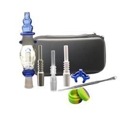 Bongos nectores on-line-Novo Kit Nector 10mm 14mm Dab Juntas De Vidro De Palha Tubulações De Água Plataformas De Petróleo Com Titanium Prego De Água De Vidro Bong Dabber prato