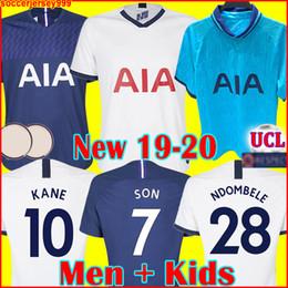 camisa piscando Desconto Tottenham hotspur spurs soccer jersey football shirt KANE camisa de futebol 2019 2020 LAMELA ERIKSEN DELE FILHO DIER esporas jerseys 19 20 Camisa de futebol uniformes fora terceiro