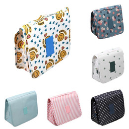 hanging waterproof cosmetic bags Coupons - Portable Folding Printed Waterproof Hanging Cosmetic Bags Travel Bath Toiletry Makeup Storage Organizer Holder Pack 6 Patterns